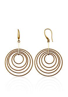 Charles Garnier Sterling Silver with 18k Yellow Gold Circle Earrings