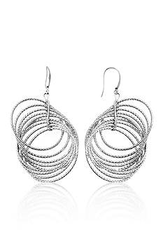 Charles Garnier Sterling Silver Circle Earrings