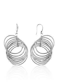 Charles Garnier Sterling Silver Circle Earrings