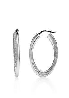 Charles Garnier Sterling Silver Double Oval Hoop Earrings