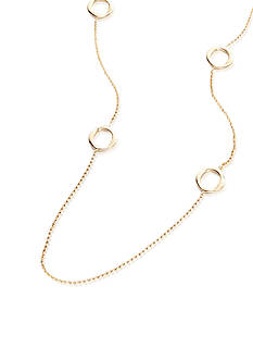 Charles Garnier Sterling Silver with 18k Yellow Gold Finish Open Circle Necklace