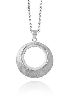 Charles Garnier Sterling Silver Open Circle Pendant