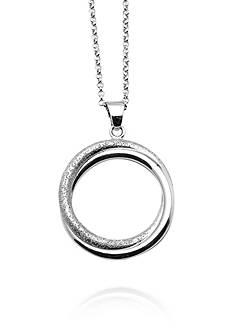 Charles Garnier Sterling Silver Circle Pendant