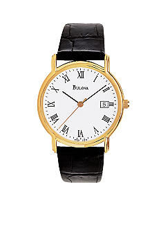Bulova Leather Strap Watch