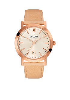Bulova Gold Dial Strap Watch