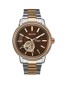 Bulova Brown Dial Two-Tone Bracelet Watch