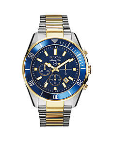 Bulova Blue Dial Two-Tone Bracelet Watch