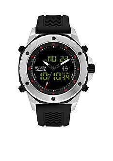 Bulova Men's Black Strap Sports Watch