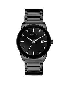 Bulova Black Diamond Dial Watch