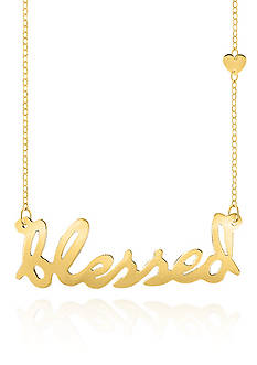 Belk & Co. 14k Yellow Gold Blessed Necklace