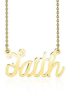 Belk & Co. 14k Yellow Gold Faith Necklace