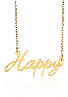 Belk & Co. 14k Yellow Gold Happy Necklace