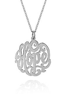 Belk & Co. Sterling Silver Hope Monogram Pendant