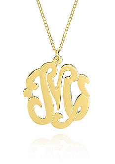 Belk & Co. 10k Yellow Gold M Monogram Necklace
