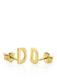 Belk & Co. 14k Yellow Gold D Initial Earrings