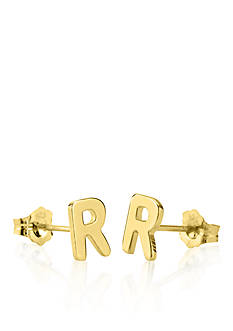 Belk & Co. 14k Yellow Gold R Initial Earrings