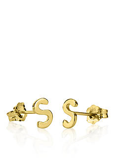 Belk & Co. 14k Yellow Gold S Initial Earrings