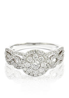 Belk & Co. Round Diamond Woven Ring in 14k White Gold
