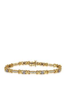 Belk & Co. Diamond Bracelet in 14k Yellow Gold