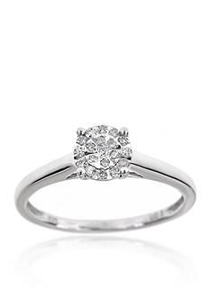 Belk & Co. Diamond Ring in Sterling Silver