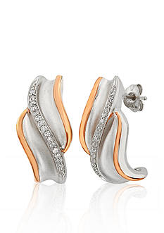 Belk & Co. Diamond Earrings in 10k Rose Gold and Sterling Silver