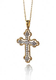 Belk & Co. Diamond Cross Pendant in 10k Yellow Gold