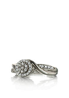 Belk & Co. Diamond Ring in Sterling Silver