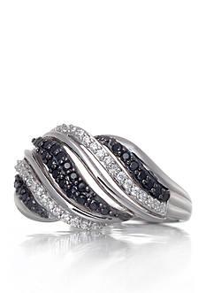 Belk & Co. Black & White Diamond Ring in Sterling Silver