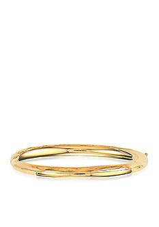 Belk & Co. 14 K Yellow Gold Polished Bangle Bracelet