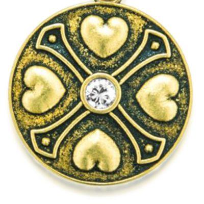 Charm Bracelets: Yellow Gold-Tone Angelica April Birthstone Expandable Bangle