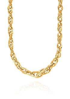 Belk & Co. 14K Yellow Gold Interlocked Oval Link Necklace