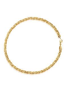 Belk & Co. 14K Yellow Gold Byzantine Bracelet