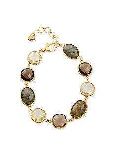 Piara by Elaine J® Sterling Silver18k Yellow Gold Plated Multi Gemstone Bracelet