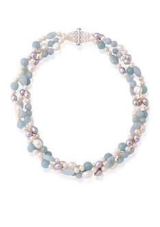Belk & Co. Freshwater Pearl Necklace in Sterling Silver