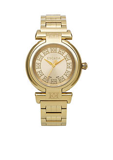Escada Lauren Collection Ion Plated Gold Dial Watch