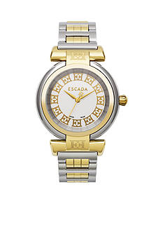 Escada Lauren II Collection Stainless Steel and Ion Gold Plated Watch
