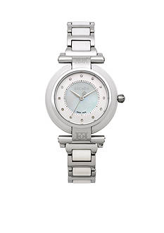 Escada Lauren Collection Stainless Steel and White Ceramic Watch
