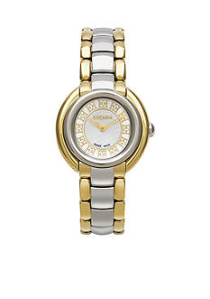 Escada Ivory Collection Stainless Steel and Gold Watch