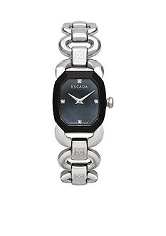 Escada Charlene Collection Stainless Steel Black Dial Diamond Watch