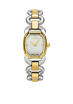 Escada Charlene Collection Stainless Steel Ion Plated Gold Watch