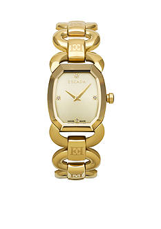 Escada Charlene Collection Ion Gold Plated Champagne Dial Watch