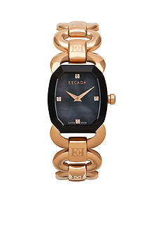 Escada Charlene Collection Ion Plated Rose Gold Watch