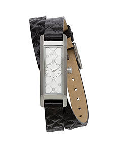 Escada Florence Collection Stainless Steel Case Leather Strap Watch