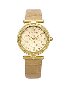 Escada Vanessa Collection Ion Plated Gold Case Watch