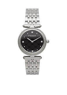 Escada Vanessa Collection Stainless Steel Black Emblem Dial Watch