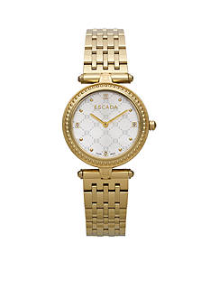 Escada Vanessa Collection Emblem Ion Gold Plated Watch