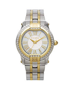 Escada Madelene Collection Stainless Steel and Ion Plated Gold Case Watch