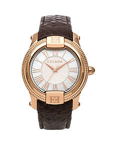 Escada Madelene Collection Ion Rose Gold Plated Watch