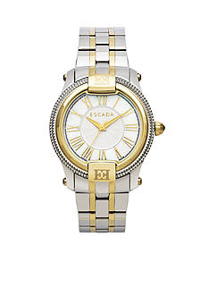 Escada Madelene Collection Stainless Steel Gold Plated Watch