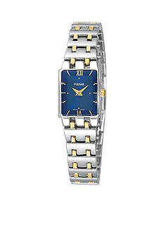 Pulsar Women's Stainless Steel Two-Tone Blue Dial Dress Watch